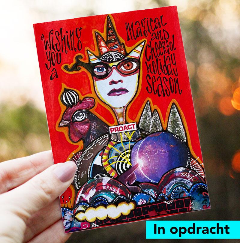Ontwerp kerstkaart Proact Netherlands 2020